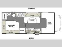 Floorplan - 2012 Coachmen RV Freelander 21QB  Ford 350