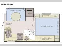 Floorplan - 2011 Adventurer LP (ALP) Truck Campers 86SBS