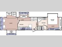 Floorplan - 2006 Forest River RV Cardinal 37RL
