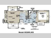Floorplan - 2012 Forest River RV Flagstaff Classic Super Lite 8526RLWS