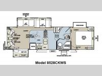 Floorplan - 2012 Forest River RV Flagstaff Classic Super Lite 8528CKWS