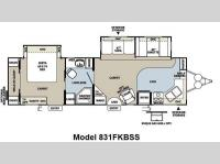 Floorplan - 2012 Forest River RV Flagstaff Classic Super Lite 831FKBSS