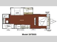 Floorplan - 2012 Forest River RV Wildwood 26TBSS