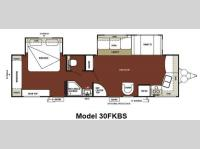 Floorplan - 2012 Forest River RV Wildwood 30FKBS
