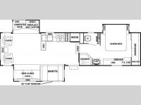 Floorplan - 2006 Forest River RV Cedar Creek Silverback 33 LCDTS