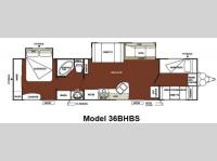 Floorplan - 2012 Forest River RV Wildwood 36BHBS