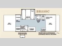 Floorplan - 2012 Forest River RV Flagstaff MAC LTD Series BR23SC