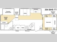 Floorplan - 2006 Keystone RV Cougar 304BHS