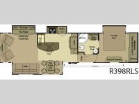 Floorplan - 2012 Open Range RV Residential R398RLS