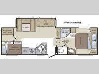 Floorplan - 2012 Keystone RV Cougar 280BHSWE
