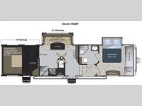 Floorplan - 2012 Keystone RV Raptor 300MP