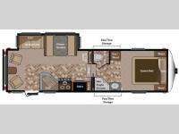 Floorplan - 2012 Keystone RV Sprinter Copper Canyon 252FWRLS
