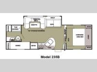 Floorplan - 2012 Forest River RV Cherokee 235B