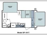 Floorplan - 2012 Forest River RV Surveyor Sport SP-191T