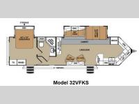 Floorplan - 2012 Forest River RV V-Cross Platinum 32VFKS
