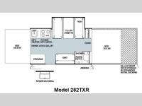 Floorplan - 2012 Forest River RV Rockwood Freedom LTD Series 282TXR