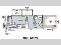 Floorplan - 2012 Forest River RV Rockwood Signature Ultra Lite 8286WS