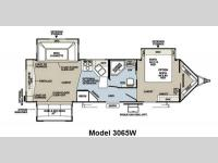 Floorplan - 2012 Forest River RV Rockwood Wind Jammer 3065W