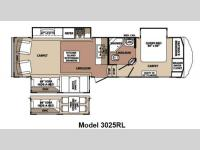 Floorplan - 2012 Forest River RV Blue Ridge 3025RL