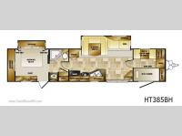 Floorplan - 2011 CrossRoads RV Hampton HT385BH