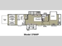 Floorplan - 2012 Forest River RV Cherokee Wolf Pack Sport 376WP