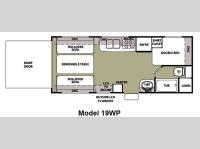 Floorplan - 2012 Forest River RV Cherokee Wolf Pack Sport 19WP