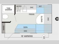 Floorplan - 2012 Jayco Jay Flight Swift SLX 145RB