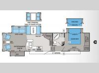 Floorplan - 2012 Jayco Eagle 351SKTS