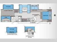 Floorplan - 2012 Jayco Eagle 324BHDS