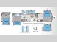 Floorplan - 2012 Jayco Jay Flight Bungalow 40BHS