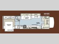 Floorplan - 2012 Forest River RV Forester 3011DS