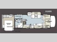 Floorplan - 2012 Forest River RV Sunseeker 3120DS