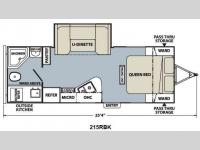 Floorplan - 2012 Coachmen RV Apex Ultra-Lite 215 RBK