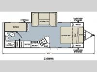 Floorplan - 2012 Coachmen RV Apex Ultra-Lite 235 BHS