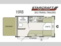 Floorplan - 2012 Starcraft  AR-ONE 15RB