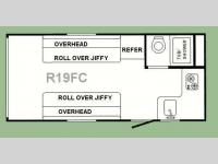 Floorplan - 2011 Sunset RV Rush R19FC
