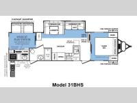 Floorplan - 2012 Forest River RV Wildcat extraLite 31BHS