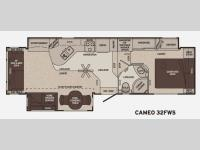 Floorplan - 2012 Carriage Cameo 32FWS
