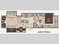 Floorplan - 2012 Carriage Cameo 37CKSLS