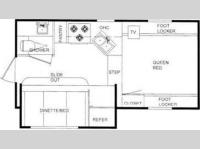 Floorplan - 2011 Travel Lite  Truck Campers 900SBSL Ultra Series