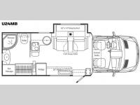 Floorplan - 2012 Leisure Travel Unity U24MB