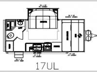 Floorplan - 2012 Pacific Coachworks Tango 17UL Ultra Lite