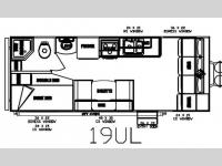 Floorplan - 2012 Pacific Coachworks Tango 19UL Ultra Lite