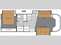 Floorplan - 2012 Thor Motor Coach Four Winds Siesta 29BG