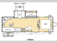 Floorplan - 2012 Coachmen RV Catalina Deluxe Edition 27FBCK