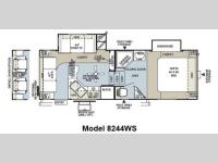 Floorplan - 2012 Forest River RV Rockwood Signature Ultra Lite 8244WS