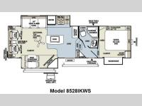 Floorplan - 2012 Forest River RV Flagstaff Classic Super Lite 8528IKWS