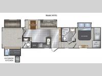 Floorplan - 2012 Keystone RV Avalanche 341TG