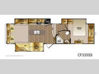 Floorplan - 2012 CrossRoads RV Cruiser Patriot  Provincial CF335SS