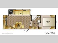 Floorplan - 2012 CrossRoads RV Cruiser CF27RKX